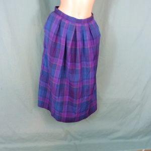 Pendleton Skirts - Pendleton Tartan Wool Skirt Scarf Size 12 Plaid